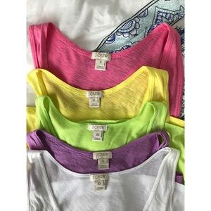 Set of 5 J.Crew Factory Tanks sizes S and XS
